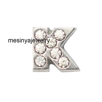 10pcs letter K floating charms for glass locket, FC-130